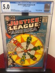 Justice League Of America 6 Cgc Graded 1st Appearance Of Professor Fortune