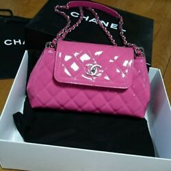 USED CHANEL Shoulder bag genuine free shipping Japan pink Very popular Famous
