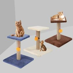 Pet Cat Tree Climbing Frame with Bell Ball Toy Cat Scratch Posts Board
