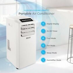 Portable Air Conditioner 10000 BTU Dehumidifier Included Window Vent Kit White