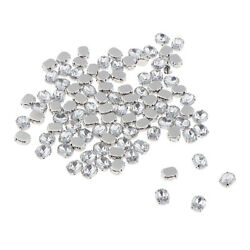100x Crystals Rhinestone Loose Faceted Beads Embellishment Sew On 8mm 10mm