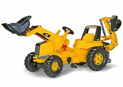 Kids Riding Toy Construction Pedal Tractor Backhoe Toddler Boy Outdoor Gift New