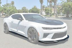 Zl1 Style Abs Plastic Front Lip Splitter With Side Skirts For 16-up Camaro Ss