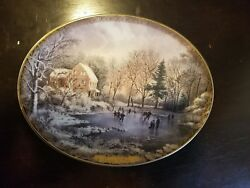 Currier And Ives Christmas Collection Plates 4 W/ Certificates Ofauthenticity