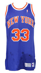 1992-1993 Patrick Ewing Game Worn New York Knicks Road Jersey Mears A5