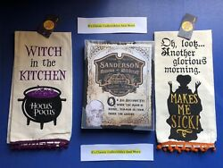 Hocus Pocus Sanderson Witch Sign And Dish Towel - Halloween Decor - Wall Art New