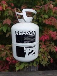 Refron BRAND PURE VIRGIN R-12 REFRIGERANT NEW OLD STOCK USA MADE 30LBS.