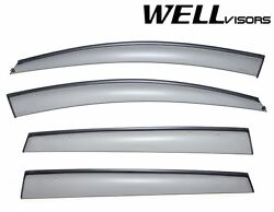 Wellvisors For 06-13 Subaru Tribeca Black Trim Side Window Visors Deflectors
