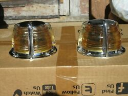 Nos Seiss 555 Tear Drop Boat Navigation Bow Light Clear Lenses 2 Available