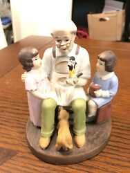 The Toymaker Norman Rockwell Sterling Treasury Porcelain Figurine. Fast Shipping