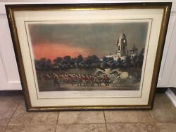 Original N. Currier & Ives Print Life Of A Fireman The Race New York City Hall