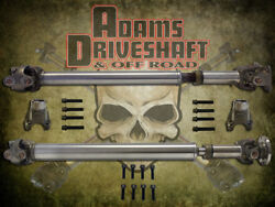 Adams Driveshaft Jl Front And Rear 1310 Cv Driveshaft Package With Solid U-joints