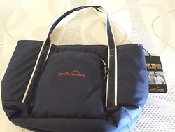 Eddie Bauer Friday Harbor Insulated Cooler Tote Includes Picnic Ware Brand New