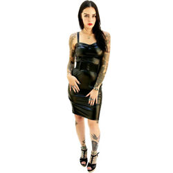 Switchblade Stiletto Faux Leather Darling Dress Retro Rockabilly Pin Up