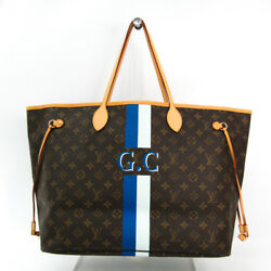 Louis Vuitton Mon Monogram Neverfull GM M40157 Women's Tote Bag BlueLi BF328484