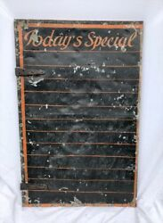 Vintage Painted Tin Sign Diner Restaurant Pub Bar Daily Specials