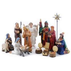 Three Kings Gifts 14-piece The Real Life Nativity 7-inch