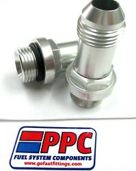 08 An Male To 3/4-16 Orb Ultra Hp Carb Inlet Fittings 26-153-2 Silver 2pc Pair