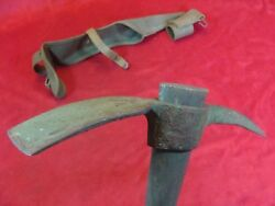 Us Military M1910 Wwii Pick Axe / Trench Tool With Carrier Cover