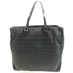 Fendi Tote bag Zucchino Black Woman Authentic Used Y5192
