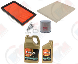 Filter Tune Up Kit + 6 Qts Eneos 5w-30 Oil + Magnetic Drain For Infiniti Nissan