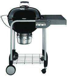 Weber Charcoal Grill 22in Black Freestanding No Ignition System Heat Thermometer