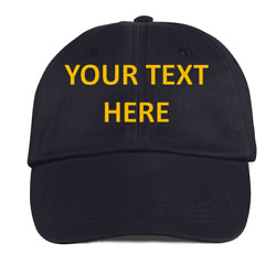 12 12 12 Custom Embroidery Embroidered baseball HATS CAPS YOUR text caps