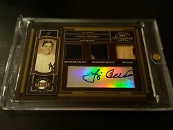 2004 Timeless Treasures Home And Away Gamers Prime Yogi Berra 1/1 Auto Patch Ny