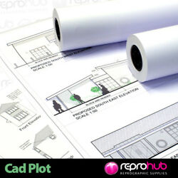 Tracing Paper Rolls 112gsm For Wide Format Inkjet Printers - 45 Metres