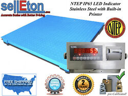 New Ntep Legal Industrial 60 X 84 5and039 X 7and039 Floor Scale 10000 X 2 Lb W. Printer