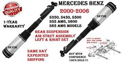 Mercedes 00-06 S350 S430 S500 S55 S600 Rear Left And Right Air Strut Assembly Set
