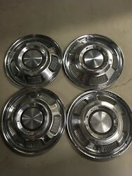 4 14 1966 66 1967 Ford Mercury Comet Hubcaps Rim Wheel Covers 14 Oem C7gy1130a