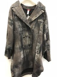 High Everyday Couture By Claire Campbell Worthwhile Coat Brown Beige Black M