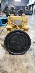 York Style AC Compressor Model ET210L Came off Caterpillar C12 Diesel Engine