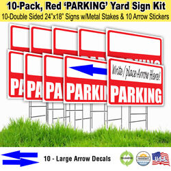 Write-in Parking Lawn Sign With Metal Stakes And Arrow Stickers 10-pack