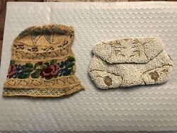 1935's Chippewa Beaded Doeskin Belt Pouch And Baby Bonnet