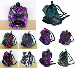 75 Pc Wholesale Lot Mandala Design Backpack Unisex Women Street Fashion Back Bag