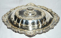 Durgin Sterling Silver Repousse Covered Convertible Vegetable Dish Rev. Dr. Dix