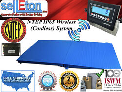 Ntep Floor Scale 60 X 60 5and039 X 5and039 Wireless Cordless 1 Ramp 5000 Lbs X 1 Lb