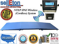 Ntep Floor Scale 48 X 48 4and039 X 4and039 Wireless Cordless 2 Ramp 2000 Lbs X .5 Lb