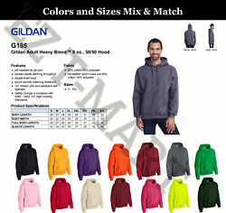 Mix And Match Size. Lot Of Gildan Blank Hooded Pullover Sweatshirts - 18500