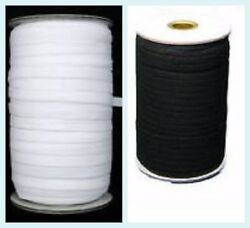 12mm White And Black Flat Woven Elastic Band For Sewing Knitting And Waistbands