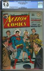 Action Comics 113 Cgc 9.0 Ow Pages // Golden Age Wayne Boring Superman Cover