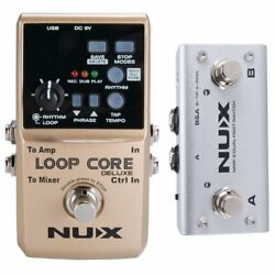 NUX Loop Core Deluxe Upgraded Guitar Loop Pedal with Foot Switch Automatic...