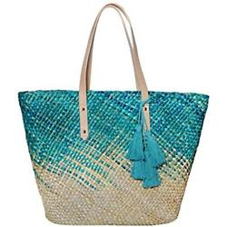 Straw Beach Tote Shoulder Bag Womens Large - Washable Lining BEACH'D (Hawaiian