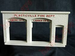 Plasticville Firehouse Front Entrance O-s Scale