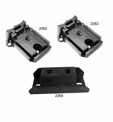 3 Pcs Front Motor And Auto Trans Mount Fit 69-72 Chevy C10 Pickup 5.7l M40 3spd