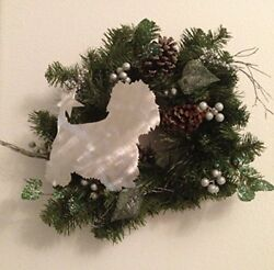 Westie West Highland Terrier Dog Christmas Tree Topper Holiday Decoration