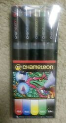 CHAMELEON Color Tones Pens 5 Primary Colors Double-Ended Refillable #:CT0502