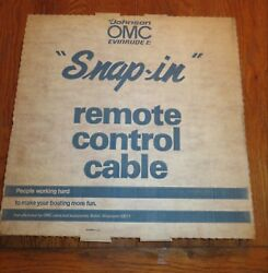 NOS OMC Johnson Evinrude Outboard Remote Control Cable 19' Snap In